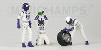 Pit crew figuren Williams BMW  front tyre change set Figuur  1/18