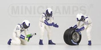 Pit crew figuren Williams BMW Rear Tyre change set Figuur     1/18