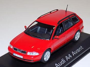Audi A4 Avant rood  1/43