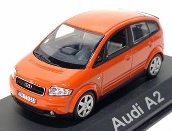 Audi A2 Oranje - rood    Orange -- red  1/43