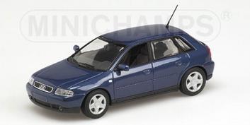 Audi A3 Denim blauw parelmoer 2000  1/43