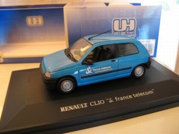 Renault Clio France Telecom Licht Blauw  Light Blue  1/43