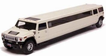 Hummer Limousine Wit White   1/43
