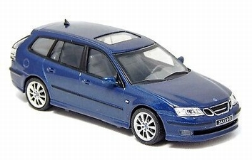Saab 9-3 Break  Blue Blauw   1/43