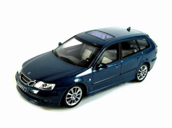 Saab 93 Break Blue Blauw   1/43
