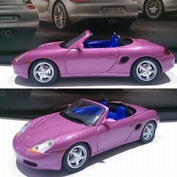 Porsche Boxter Purple Paars   1/43