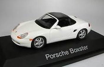 Porsche Boxter Cabrio White Wit + soft top  1/43