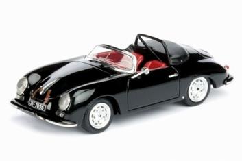 Porsche 356 A Speedster Cabrio Black Zwart  1/43