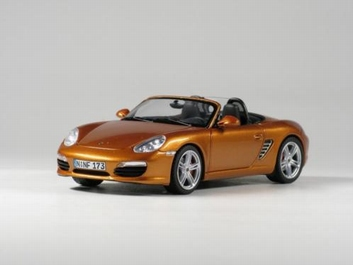 Porsche Boxter S  Cabrio Orange Gold  Oranje Goud  1/43