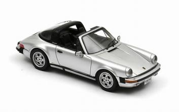 Porsche  911 Carrera Targa USA Cabrio Silver Zilver  1/43