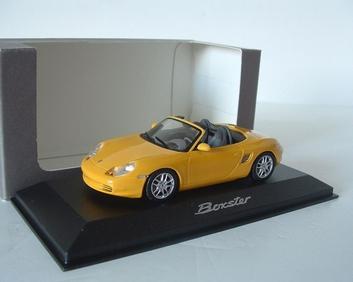 Porsche Boxter Yellow Geel  Cabrio  1/43