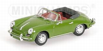 Porsche 356  C Cabriolet Green Groen   1/43