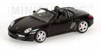 Porsche Boxter S 2005 Black Metallic Zwart  1/43