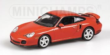 Porsche 911 Turbo 1999 Orang red  Oranje Rood  1/43