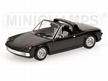 Porsche  914/4 ( VW Porsche ) 1973 Black Zwart  1/43
