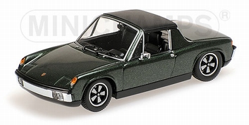 Porsche 914/6 ( VW Porsche ) Green metallic Groen 1970  1/43