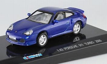 Porsche 911 Turbo 2000 Blue  Blauw  1/43