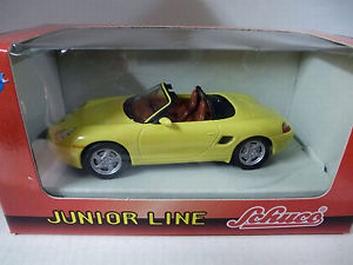 Porsche  Boxter Cabrio Yellow Geel  1/43