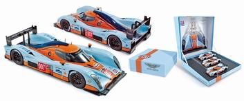 Aston Martin Lola LMP1  24H Le Mans 2009 Gulf Set 007-8 en 9  1/43