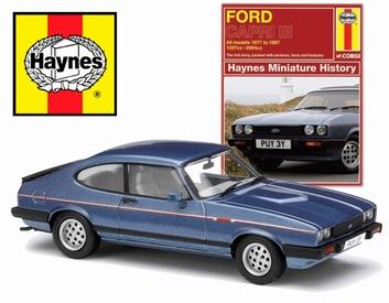 Ford Capri  lll Blue Blauw + book boek all models 1978 -1987  1/43