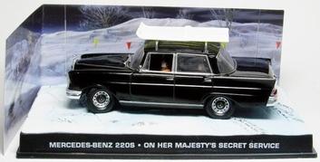 Mercedes Bens 220 S On her majesty's secret service   1/43