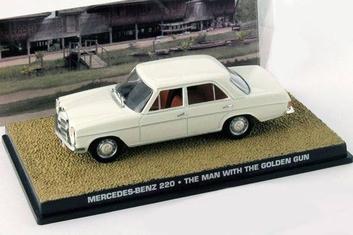 Mercedes Benz 220 The Man with the golden gun James Bond 007  1/43