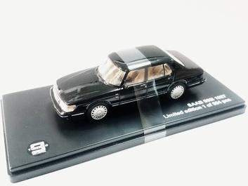 Saab 900i 1987 Zwart  Black  1/43