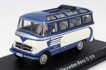 Mercedes benz O 319 Blauw wit blue white + figuur figure  1/43