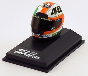 AGV Helmet Valentino Rossi Helm Moto GP Mugello 2002  1/8