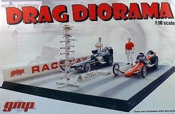 Drag diorama  Raceway  1/18