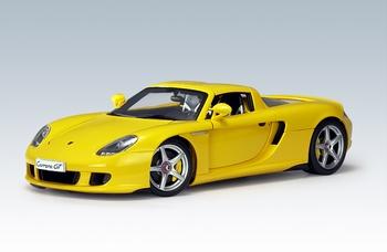 Porsche Carrera GT geel yellow  1/18