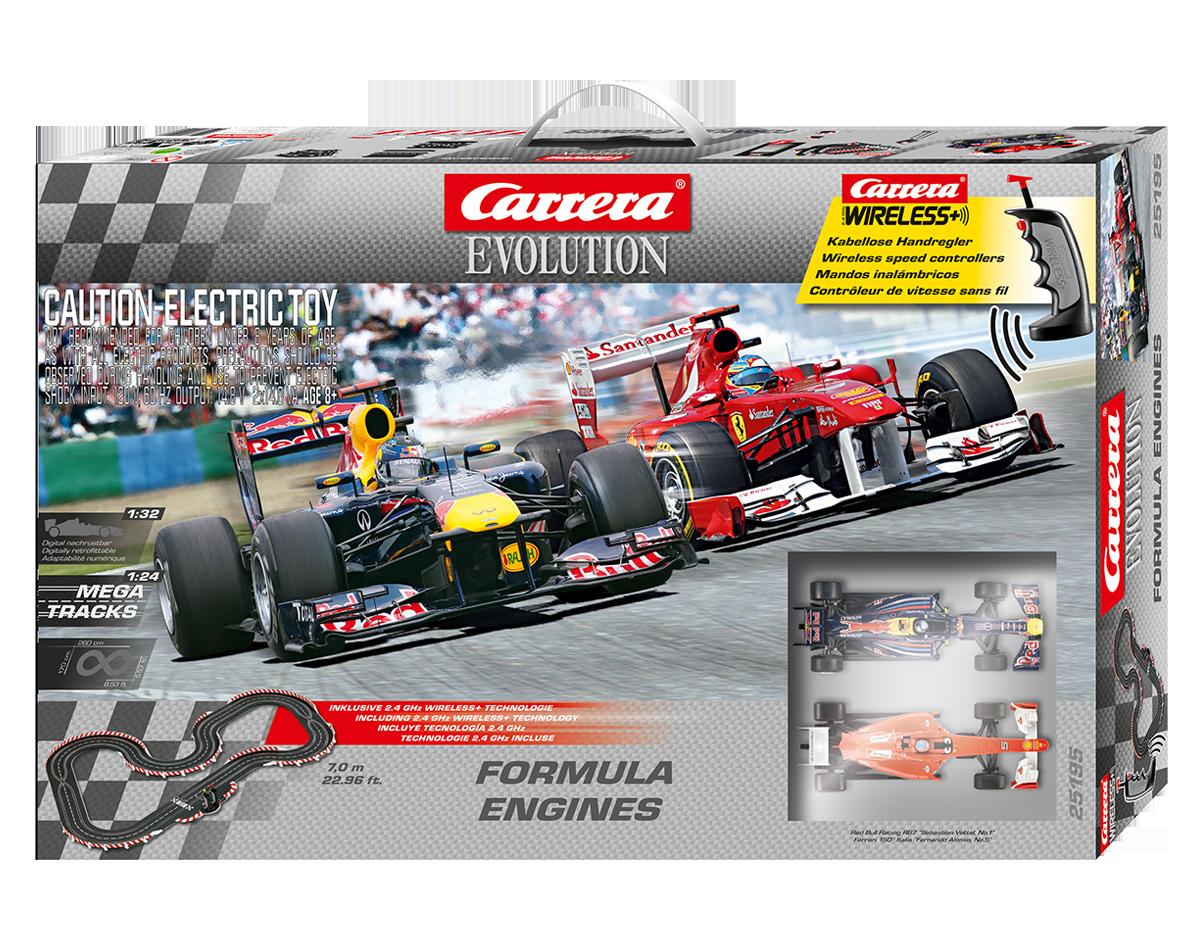 Carrera Formula Engines met draadloze regelaars F1 Formule1  1/32