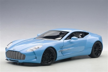 Aston Martin ONE-77  Blauw Tiffany Blue  1/18