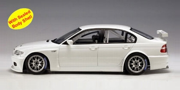 BMW 320 i WTCC plain body version white wit  1/18