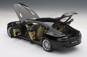 Aston Martin Rapide  Zwart  Black  1/18