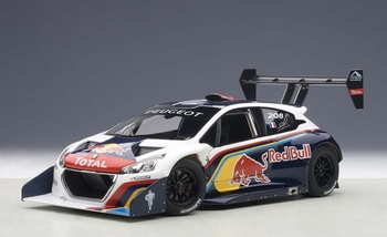 Peugeot 208 T16 Pikes Peak Race Car 2013 Red  Bull  1/18