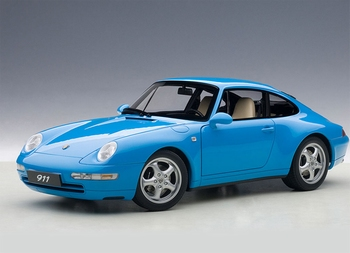 Porsche 911 993 Carrera Blauw metallic Blue  1/18