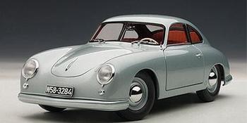 Porsche 356 Coupe Ziver Grijs  Fish Silver Grey  1/18