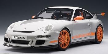 Porsche 997 GT3 RS Zilver Silver  1/18