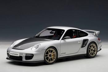 Porsche 911 997 GT2 Zilver  Silver  1/18