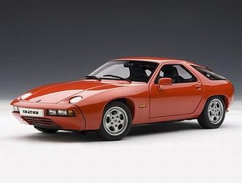 Porsche 928 Rood guards Red  1/18