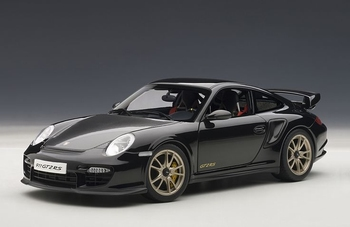 Porsche 911 997 GT2 RS Zwart  Black  1/18