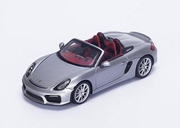 Porsche Boxter Spider cabrio Zilver silver 2015  1/43