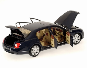 Bentley Continental Flying Spur 2005 Blauw metallic Blue  1/18