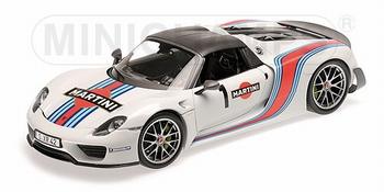 Porsche 918 Spyder 2013 Weissach Pakage Martini # 1  1/18