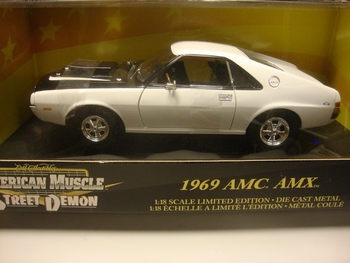AMC 1969  AMX  Wit  White   1/18