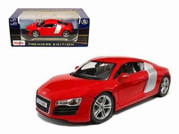 Audi R8  Rood Red  1/18