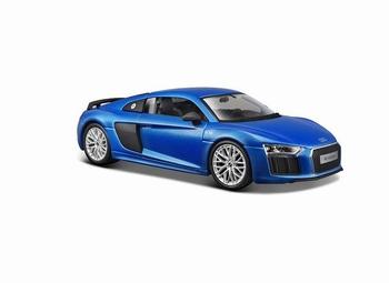 Audi R8 V10 Plus  Blauw Blue  1/18