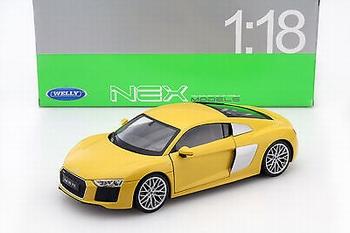 Audi R8 V10 Geel Yelow  1/18