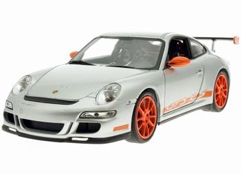 Porsche 911 - 997 GT3 RS Zilver Oranje   Silver Orange  1/18